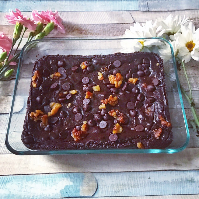Gluten Free Vegan Flourless Double Chocolate Brownie | Healthy Desserts | Chocolate Desserts