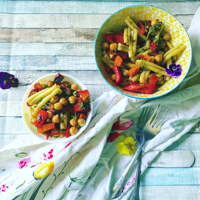 Vegetable Casarecce Pasta in Pesto | Quick and Easy Meal