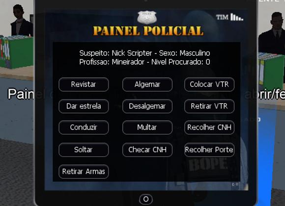 iPad Policial + Sistema de Prisão