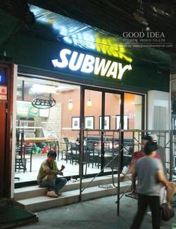 ตกแต่งภายในร้านอาหาร Subway