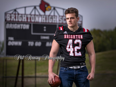 Now booking 2022 Seniors!!!  Had the opportunity to photograph Mr. DuPuy from Brighton a few days ag