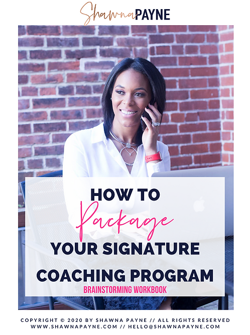 How To Package Your Signature Coaching Program