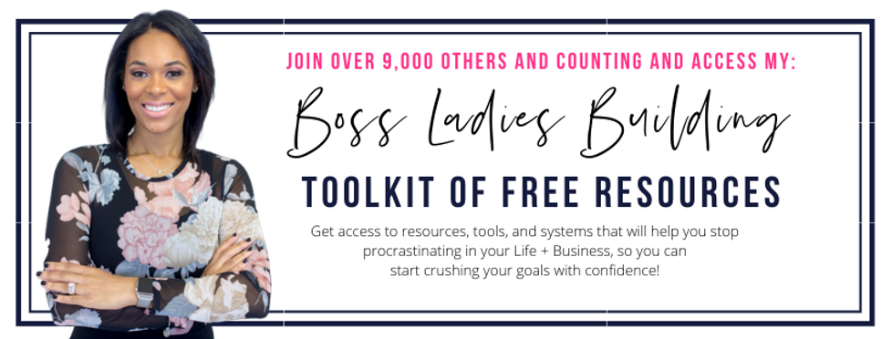 Shawna Payne BOSS Ladies Building toolkit of free resources.
