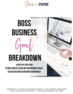 BOSS Business Goal Breakdown - Cover Pag
