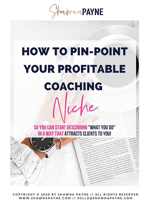 How To Pin-Point Your Profitable Coaching Niche