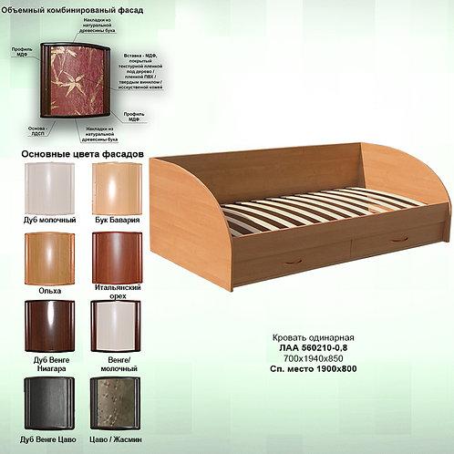 Кровать с ящиками Л210я-0.8 орт. осн.