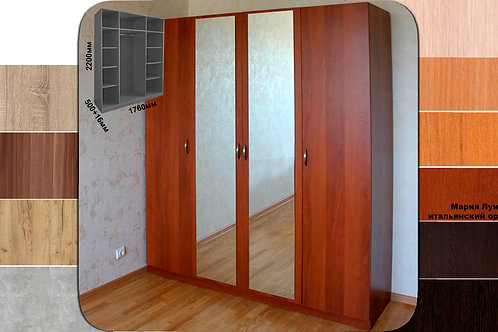 Шкаф ст110з (с 2мя зеркалами)