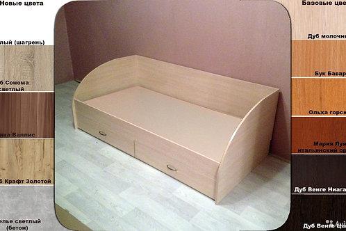 Кровать с ящиками Л210я-0.9 осн. ДСП