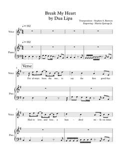 Break My Heart by Dua Lipa - Full Score.