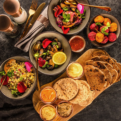 Middle Eastern Vegan Feast (3-course meal for 2-4)