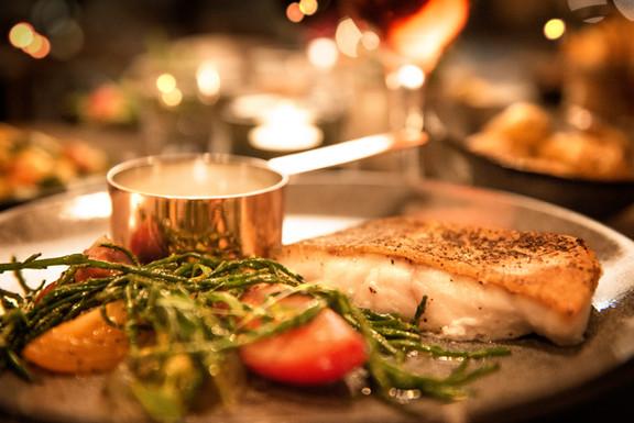Pan-fried cod