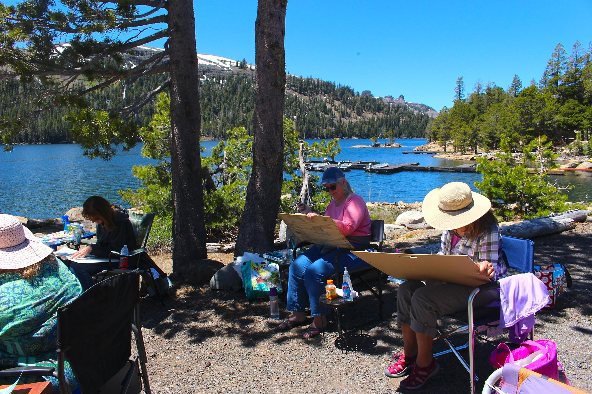 student photos at Caples Lake wc pic