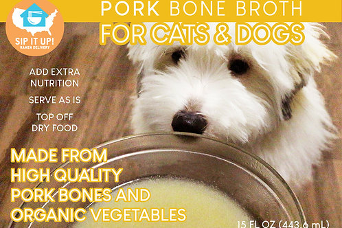 PORK Bone Broth for Cats & Dogs (10 Packs)