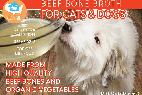 BEEF Bone Broth for Cats & Dogs (10 Packs)
