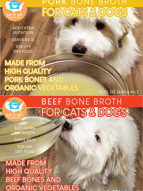 Bone Broth for Cats & Dogs (10 Variety Pack)
