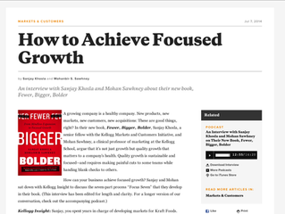 How to Achieve Focused Growth: An interview with Sanjay Khosla and Mohan Sawhney about their new boo