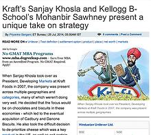 Economic Times, Fewer Bigger Bolder, By Sanjay Khosla and Mohanbir Sawhney