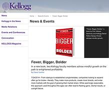 Fewer Bigger Bolder, by Sanjay Khosla and Mohanbir Sawhney