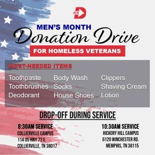 Men's Month Donation Drive