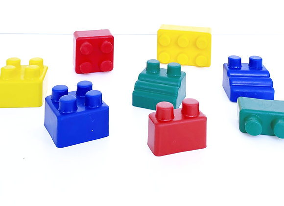 Rubber Lego Block Set