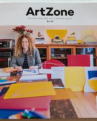 Karyn Taylor artist, Artzone cover
