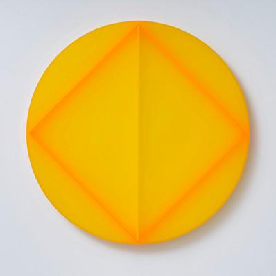 Electric Diamond Yellow Circle, 2021