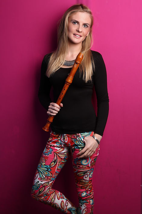 Lydia Gosnell recorder player and historical flautist