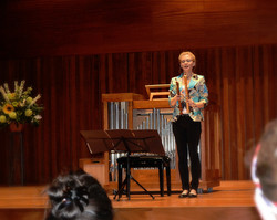 Performing in Milton Court, London