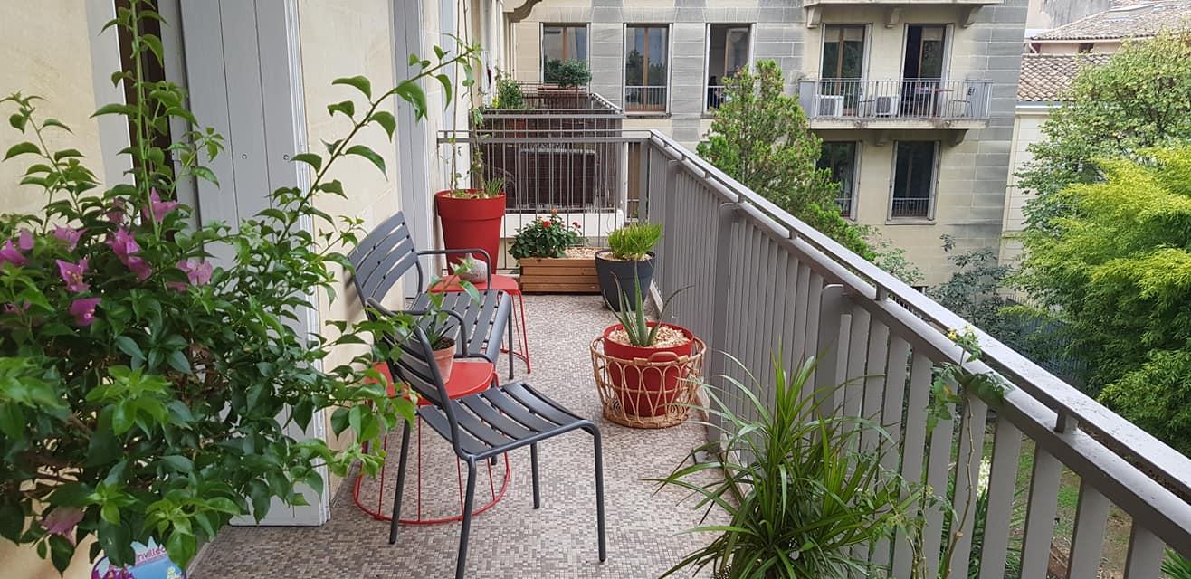 Vue élargie sur 1er balcon