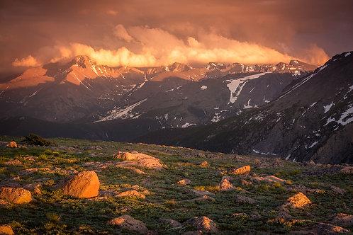 Sunset on Trail Ridge Road