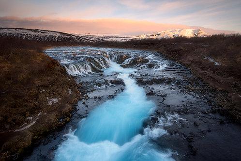 Brúarfoss at Dawn