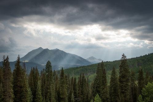 Beams of Light on Kebbler Pass