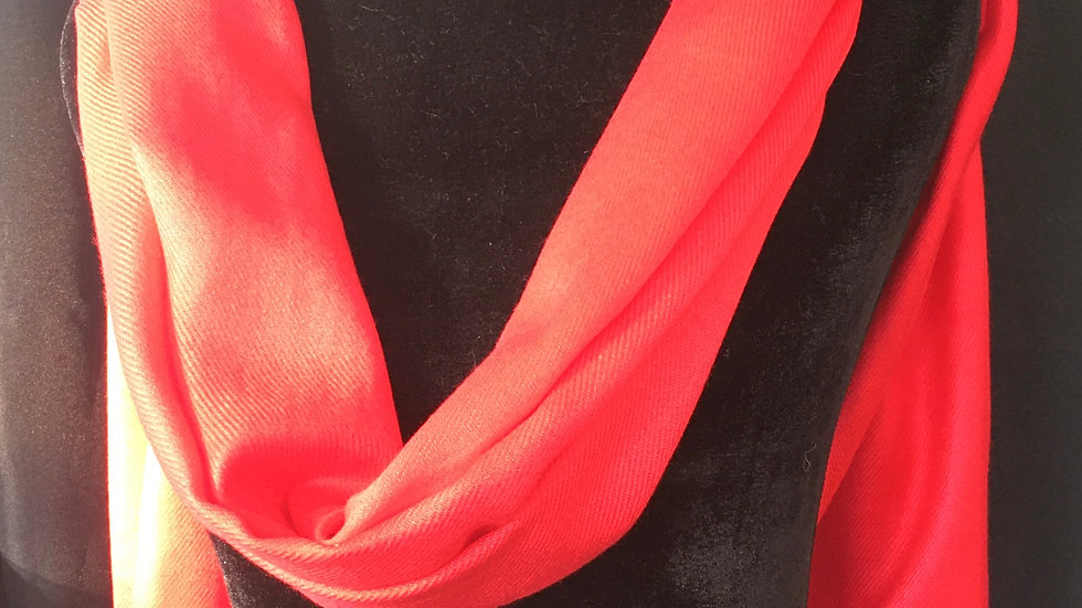 Pure Love Red Cashmere and Silk Shawl