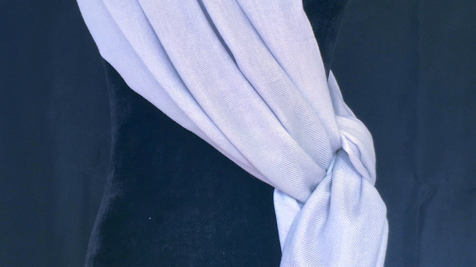 Ice Ice Baby Blue Cashmere and Silk Shawl