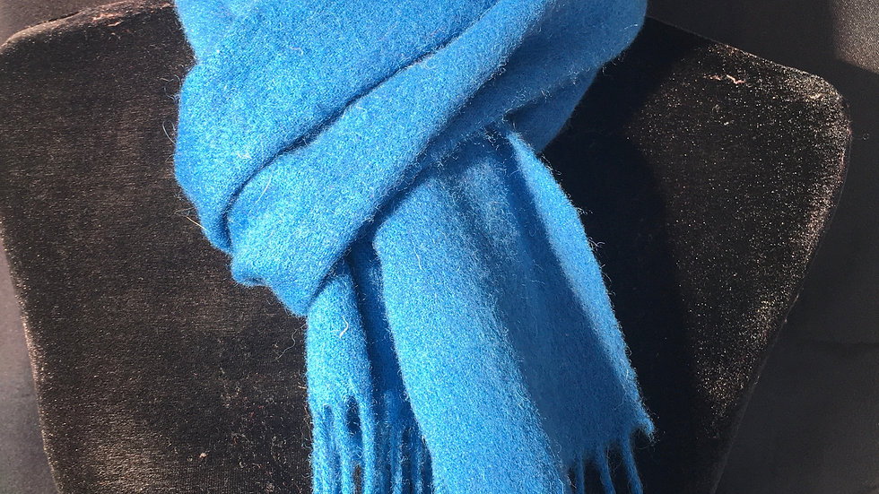 Hail to the Queen Royal Blue Lambswool Scarf