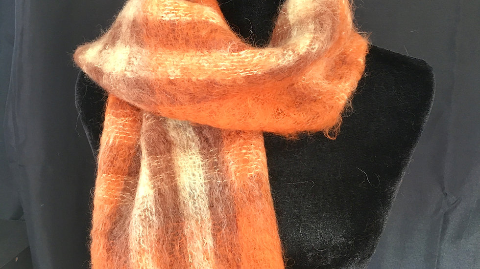 Orange you Glad it's Mohair Scarf