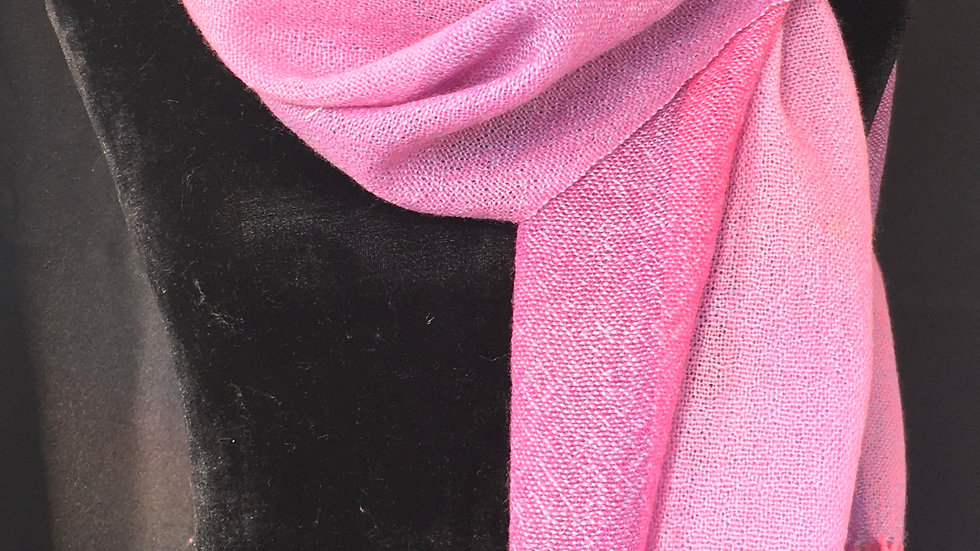 Lavender and Roses Gauzy Wool Scarf