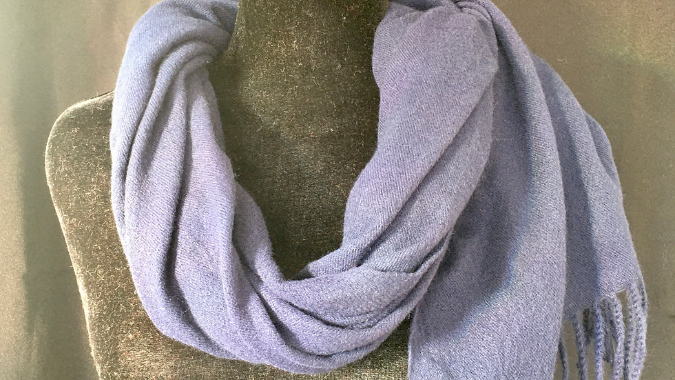 Electric Blue Felted Lambswool Scarf