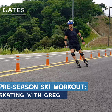 Pre-season ski workout: Gates, Slalom Ski