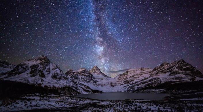 The Milky Way, as seen above Mount Assiniboine Provincial Park (Callum Snape photo)