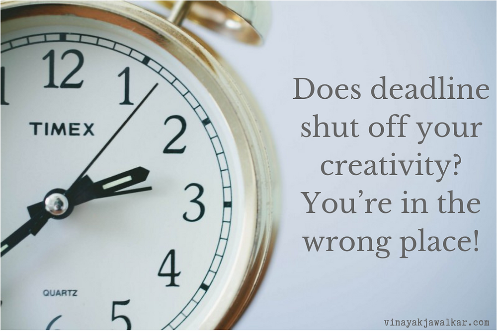 Does deadline shut off your creativity? You're in the wrong place!