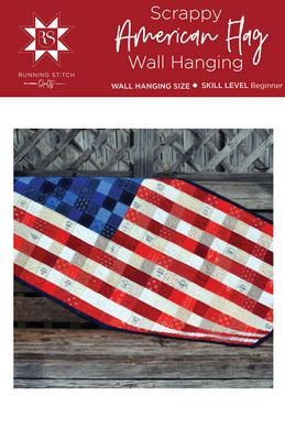 Scrappy American Flag Quilt Pattern