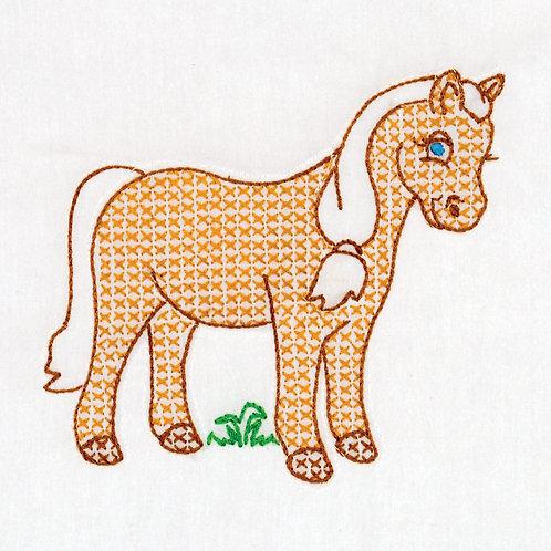 Pony 9 inch Quilt Blocks