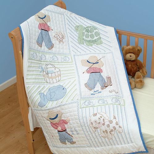 Little Boy Crib Quilt Top