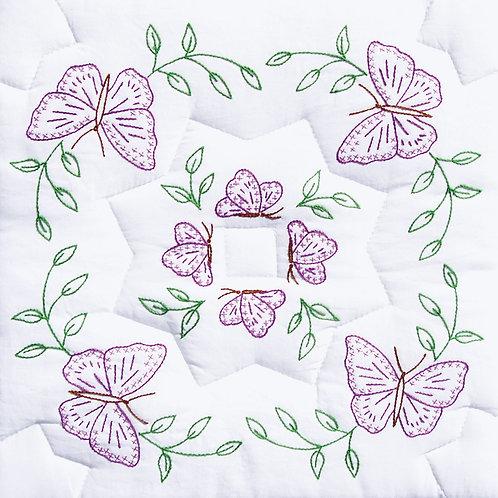 Interlocking Circle of Butterflies 18″ Quilt Blocks