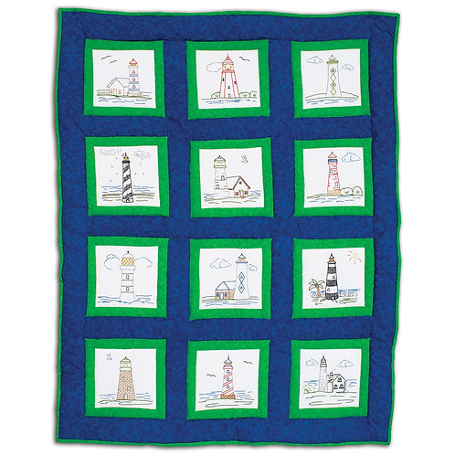 Lighthouses 9 inch Quilt Blocks