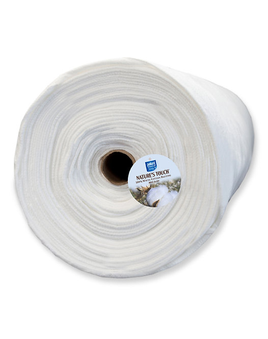 """Pellon Cotton with Scrim 90"""" Batting By the Yard White Bleached"""