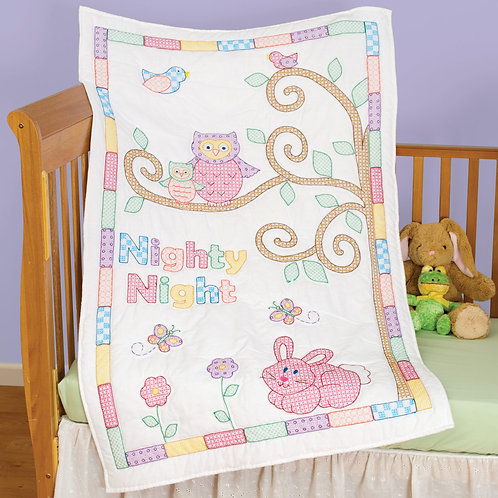 Owl and Friends Crib Quilt Top