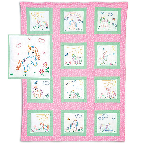 Baby Unicorns 9 inch Quilt Blocks