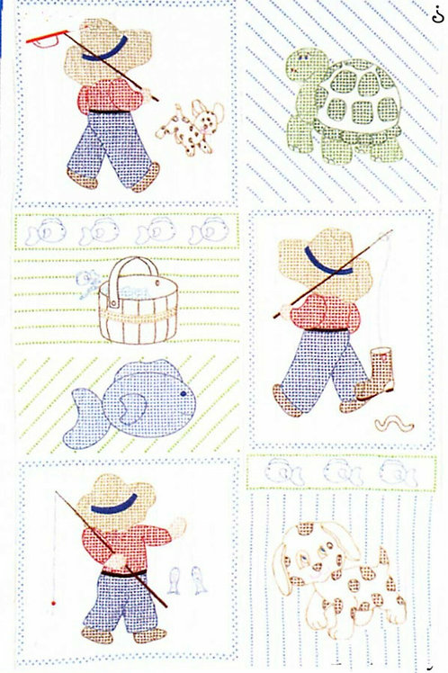 Jack Dempsey Little Boy Crib Quilt Top